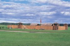 reconstructed fort at Rocky Mountain House