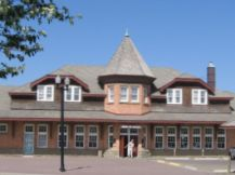 historic Canadian Pacific station in Red Deer