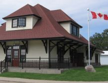 replica of Penhold station