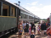 Stettler steam train passenger cars