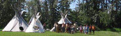 reconstructed Fort Normandeau cultural event