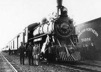 Canadian Northern locomotive in 1913